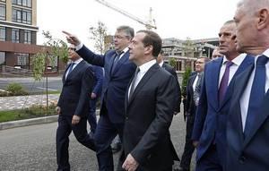 Prime Minister Medvedev in Stavropol, Russia