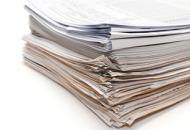 Backs of document stack